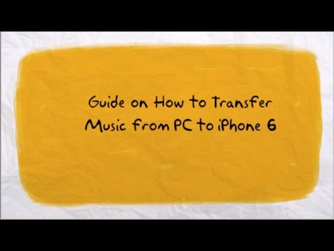 How to transfer music from pc to iphone 6