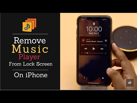 Remove music player widget from lock screen on iphone (3 ways)
