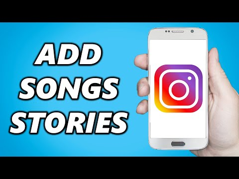 How to add songs/music to instagram stories! (2021)