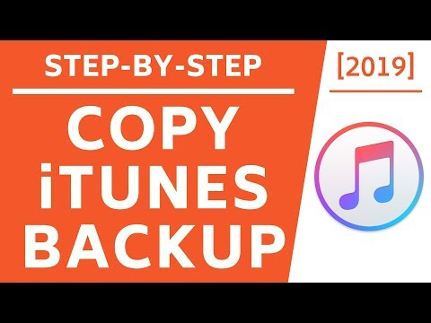 Copy itunes backup to external hard drive! [2019] [4k]