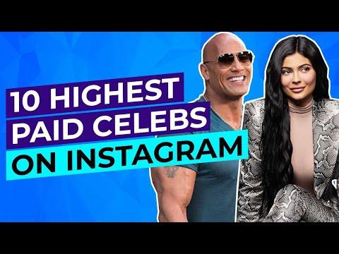 10 highest paid celebrities on instagram