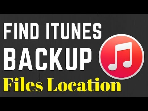 How to find itunes backup files location on windows 10