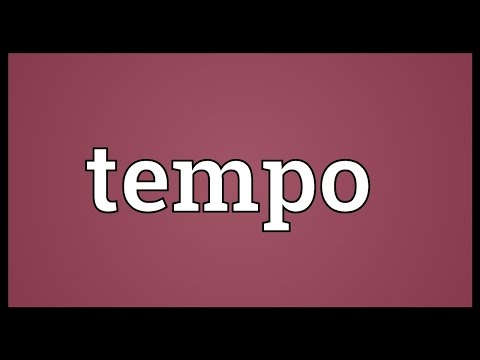 Tempo meaning
