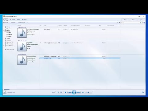 How to add music to the windows media player library on windows 10