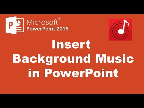 How to add music to powerpoint 2016 slides