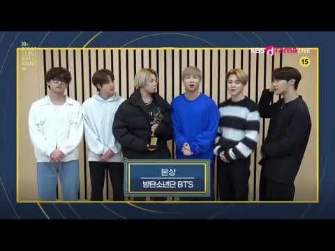 Bts won 'main' (bonsang) award at the 30th seoul music awards 2021