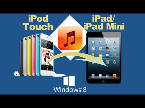 How to transfer music from ipod touch to ipad & sync music playlist from ipod touch to ipad mini?