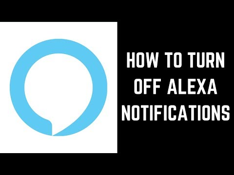 How to turn off alexa notifications
