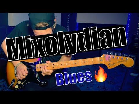 D mixolydian blues jam   sexy guitar backing track