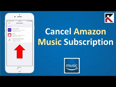 How to cancel amazon music subscription iphone or tablet
