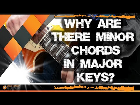 Music theory for guitar: why are there minor chords in major keys?