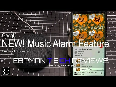 Google home & google mini new alarm feature! how to set music alarms