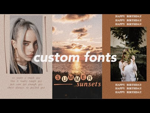 How to add custom fonts to instagram stories without leaving the app!
