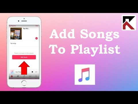 How to add songs to a playlist apple music