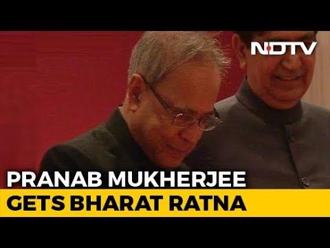 Pranab mukherjee, nanaji deshmukh, bhupen hazarika awarded bharat ratna