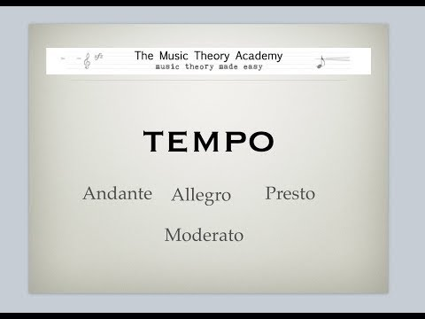 Music theory lesson tempo