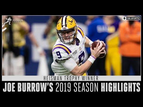 Heisman trophy winner joe burrow's 2019 season highlights   cbs sports