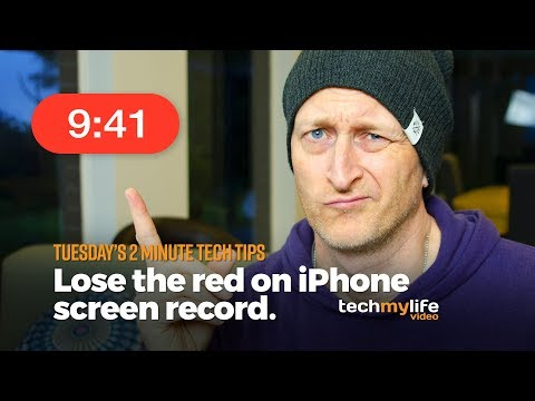 Lose the awful red bubble on strip on iphone screen recordings