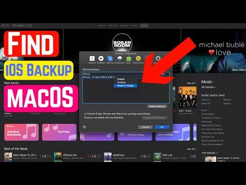 How to find itunes backup files on mac