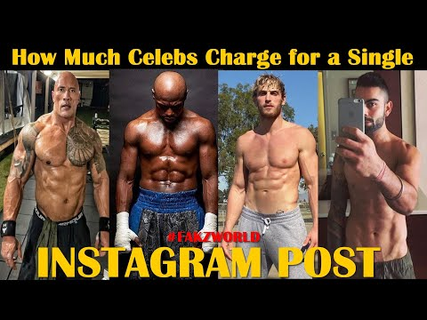 How much do celebrities charge for a single instagram post   highest paid celebrities on instagram
