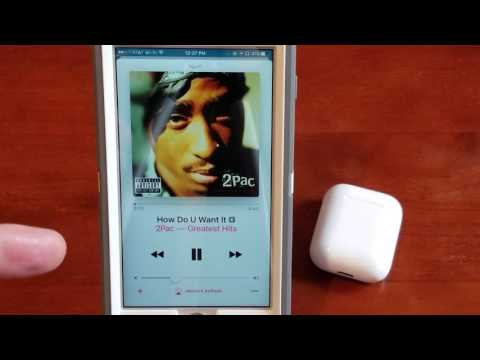 Using airpods with apple music and spotify