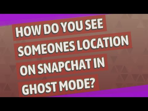 How do you see someones location on snapchat in ghost mode?