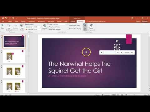 Adding music to your powerpoint presentation