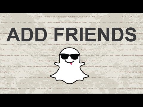 How to add friends on snapchat - 2015