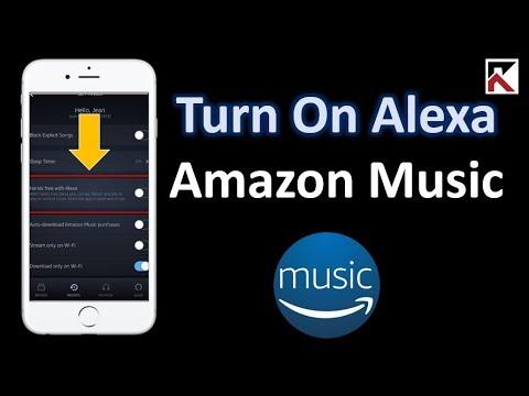 How to turn on alexa amazon music
