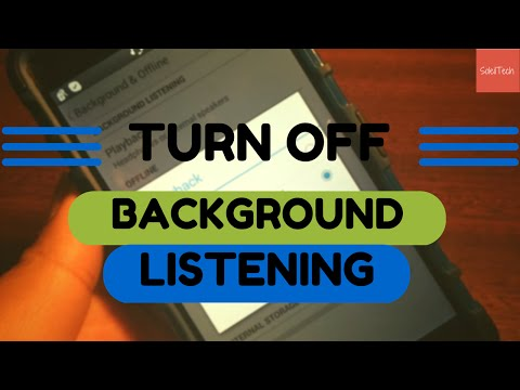 How to turn off background listening (youtube music key) | soleiltech
