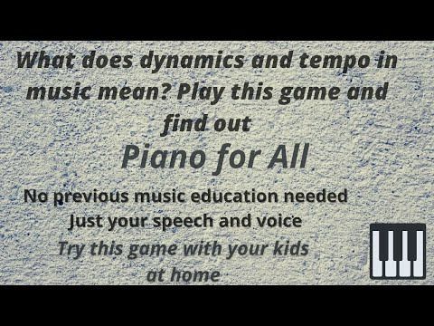 What does dynamics and tempo in music mean? play this musical game and find out!