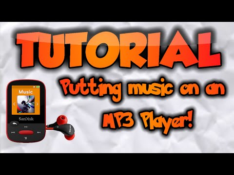 How to put music on a mp3 player! || windows 10