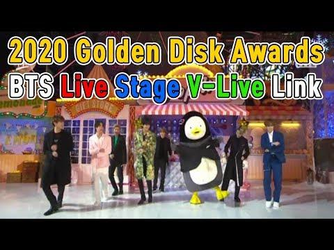 2020 golden disk awards bts live stage v-live link (link to video description column)