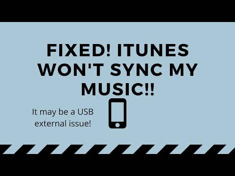 Fixed itunes library doesn't send or sync music to my iphone not syncing