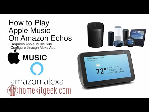How to play apple music on amazon echos