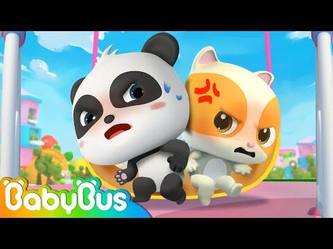 Play safe at the playground   wait in line   nursery rhymes   kids songs   babybus