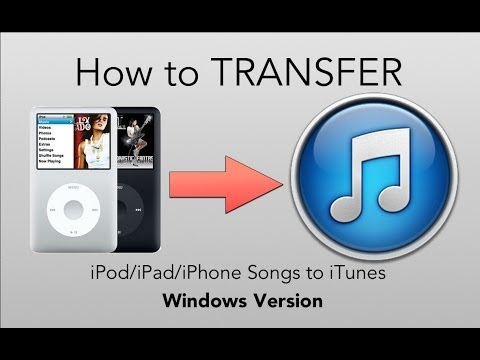[how to] transfer from ipod to itunes (windows)