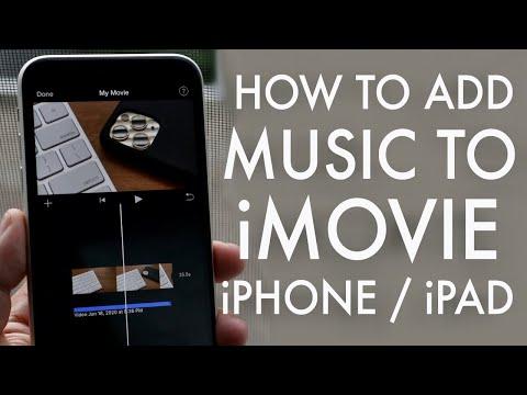 How to add music to imovie! (iphone, ipad, ipod) (2020)