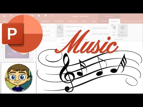 Adding music to powerpoint presentations - powerpoint tutorial