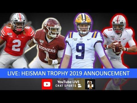 Heisman trophy 2019 winner, live voting results: joe burrow, jalen hurts, chase young, justin fields