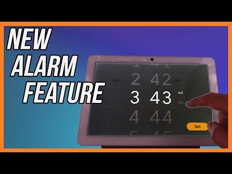 Google home new alarms feature - full interface walkthrough