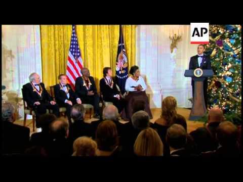 President obama awards honours to winfrey, mccartney