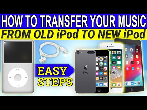 How to transfer music from an old ipod to a new ipod, iphone, or ipad
