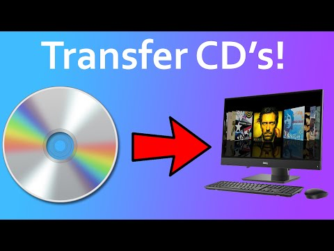 How to copy cd's to a pc!