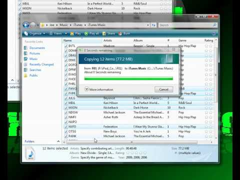 How to transfer song from ipod to itunes easy!!!