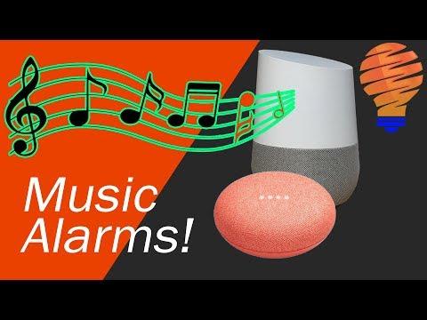 Google home and google home mini music alarms walkthrough