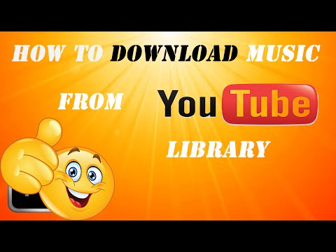 How to download music from youtube audio library - easy 2016