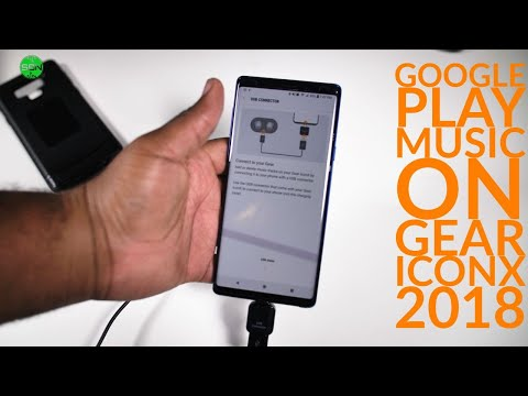 How to add music on samsung gear iconx 2018 | google play music